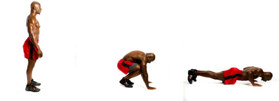 Exercise Burpee http://spartanworkoutblog.com/2012/09/exercise-of-the-week-burpees/